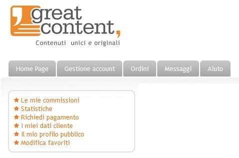guadagnare con Great Content